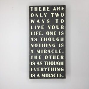 Miracle wood subway scroll wall art